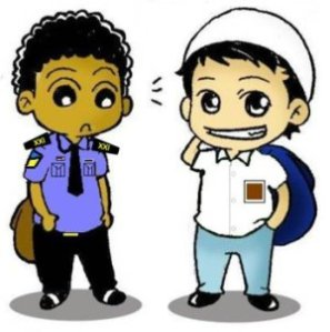 Mahar & Khalid in uniform