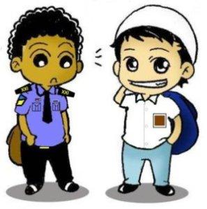 Mahar & Khalid in uniform