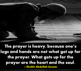 Prayer is Heavy